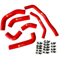 Eazi-Grip Silicone Hose and Clip Kit for Kawasaki ZX-10R  red